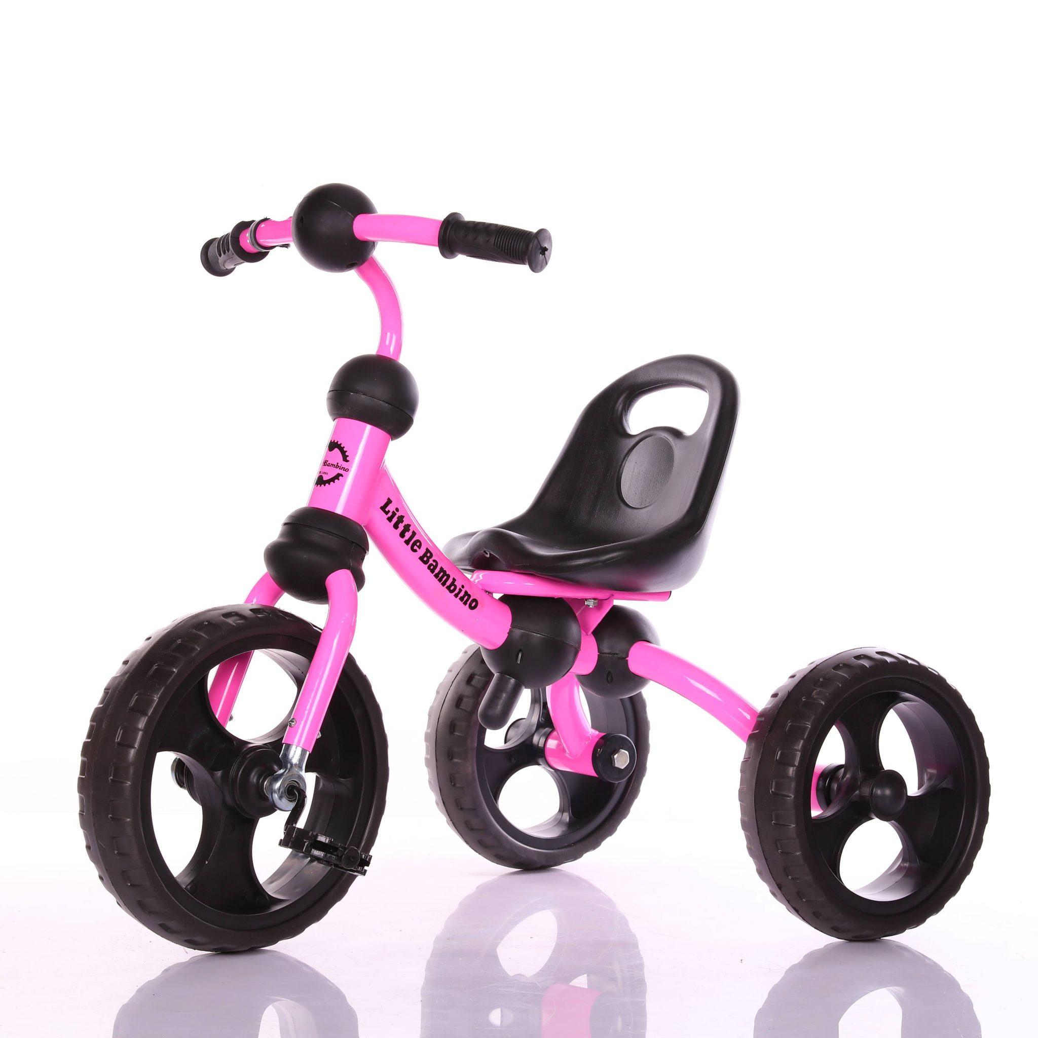 pink 3 wheeler trike learn to ride