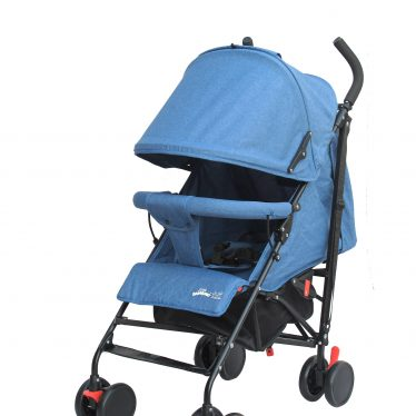 blue umbrella stroller
