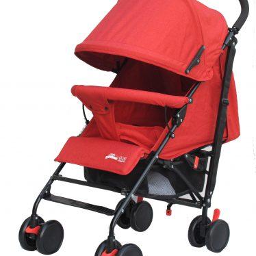 red lightweight stroller