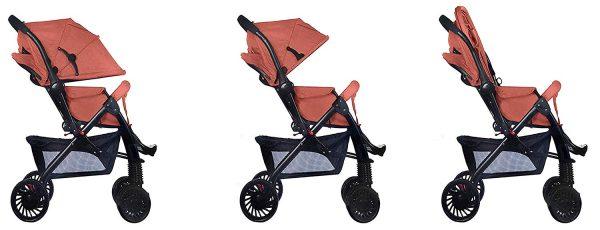 red pushchair pram stroller 859