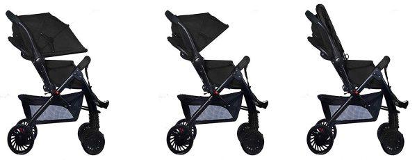black stroller pram