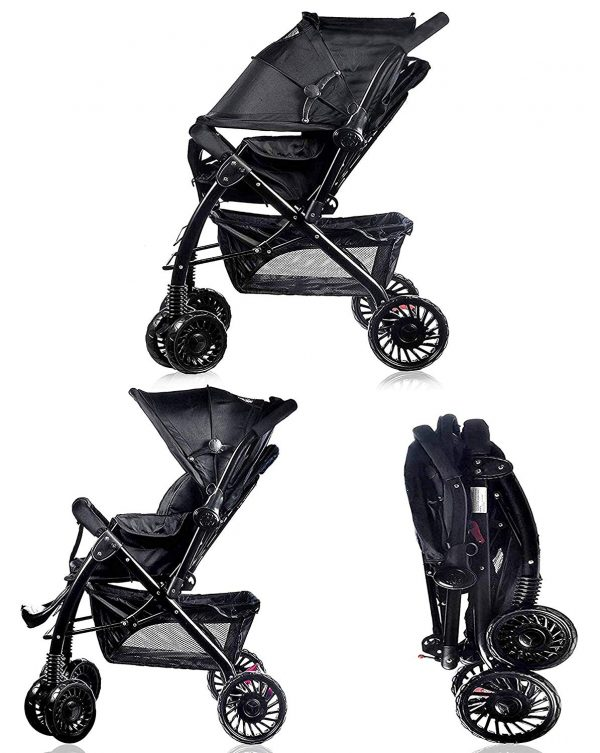 black pushchair little bambino