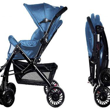 blue little bambino pram