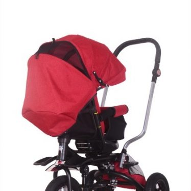 5 in 1 red trike with parent handle